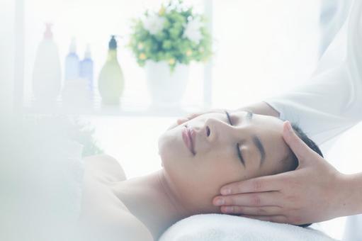 Woman receiving facial esthetic 6