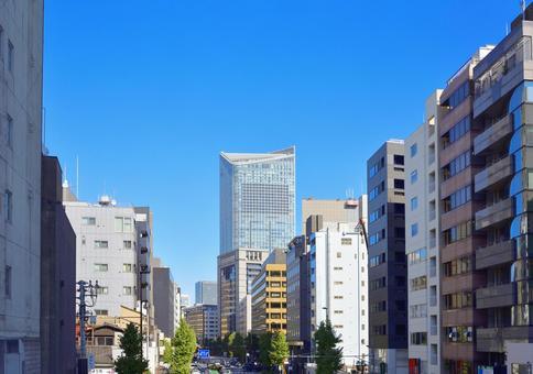 도쿄 토 라노 몬 주변의 거리 풍경