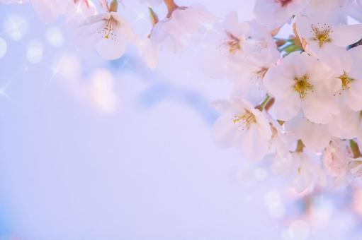 Fluffy glitter cherry blossom frame