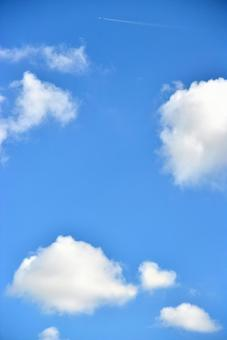 Heart fish clouds and airplane clouds