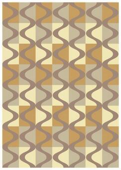 Scandinavian design grid and wave beige