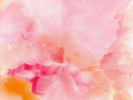 Warm watercolor pattern, horizontal
