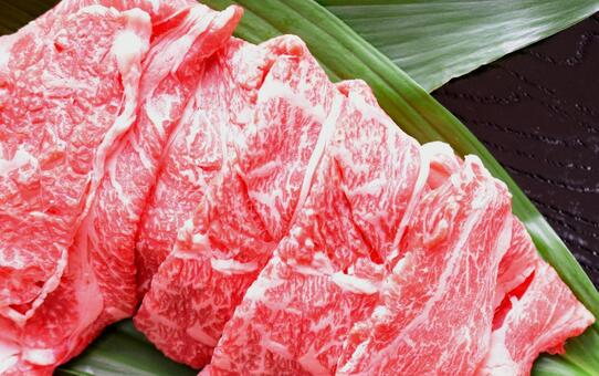 Beef, Japanese beef, sliced meat, marbled meat