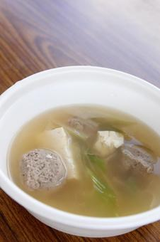 Close-up of surimi juice