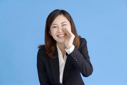 A woman shouting something 4