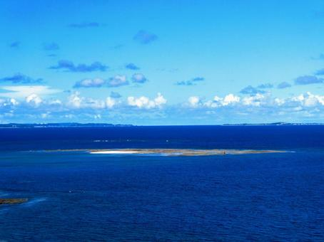 Okinawa sea _ bird's-eye view from the sky