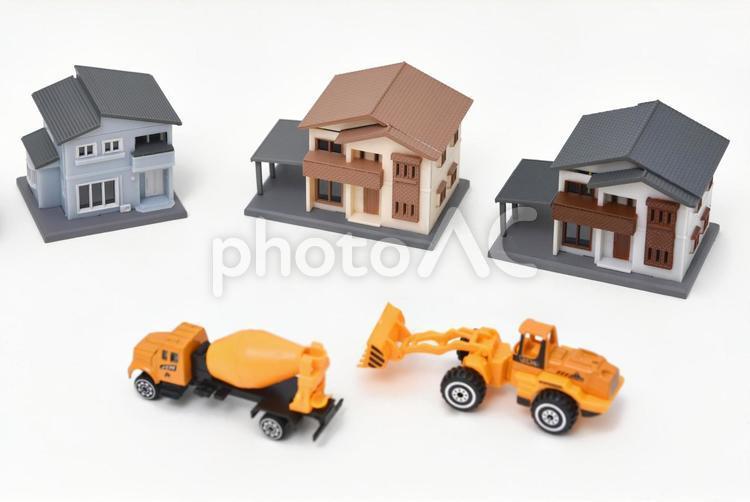 住宅地の工事の写真