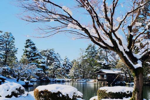 Kenrokuen in a Japanese style garden