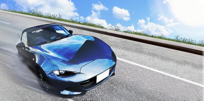 Car Domestic car Sports car sprinting Advertising material