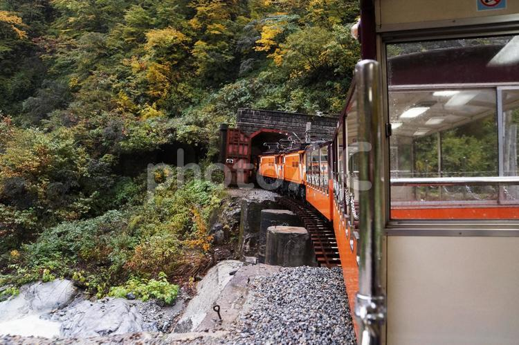 黒部峡谷トロッコ電車の写真