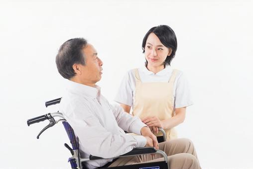 Nurse and wheelchair male 3