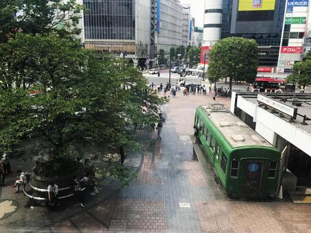 Shibuya station square