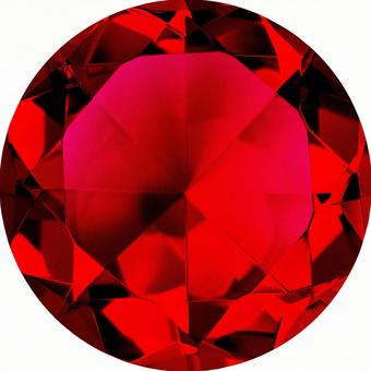 Garnet color crystal (with clipping pass)