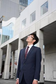 A businessman looking up 1