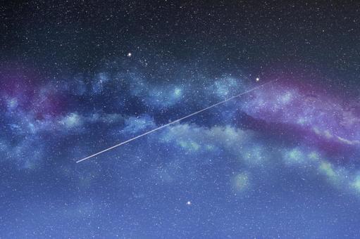 七夕|銀河系夜空流星