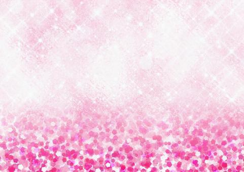 Cube glass glossy background and glitter style illustration background material (pink)