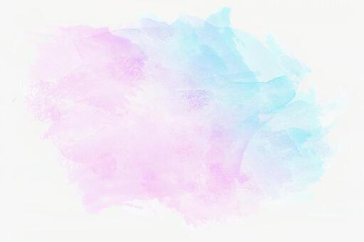파란색과 분홍색 수채화 오려내
