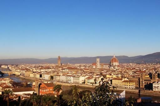 해외 여행 이탈리아 피렌체 미켈란젤로 광장에서 촬영 한 전망 001