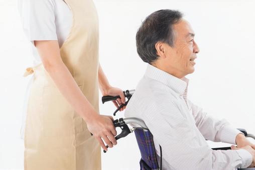 Wheelchair old man 2