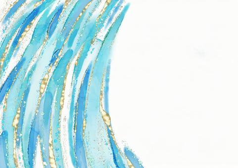 배경 텍스처 알코올 잉크 수채화 아트 라메 글리터 금가루 블루 에메랄드 블루