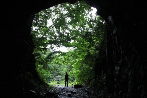 Nakatsugawa Valley Promenade A tunnel with hollowed out rocks