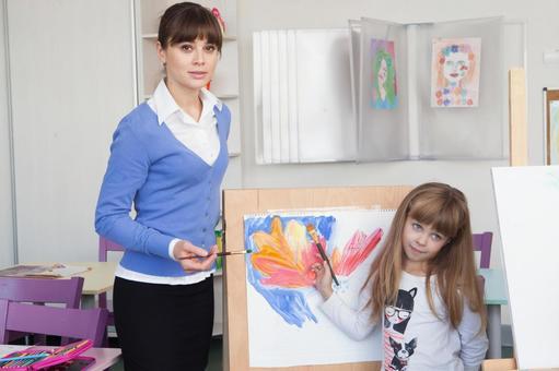 小学生和工艺美术教师的时间9