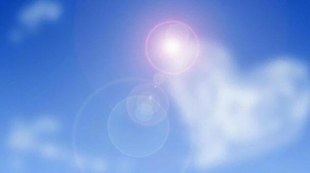 Heart cloud and blue sky
