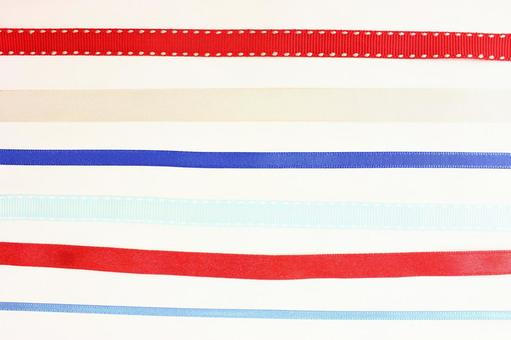 Ribbon texture background cream color · red, white, blue ribbon 3