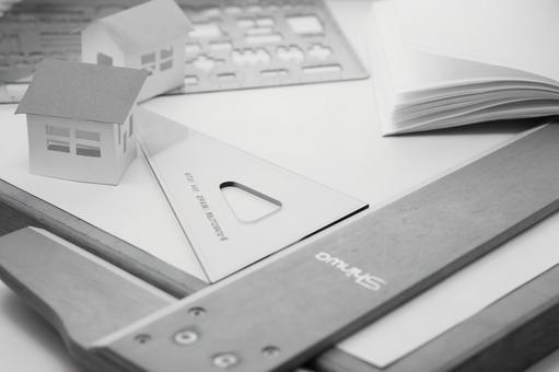 Planning house monochrome