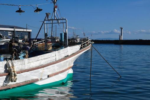 항구의 어선