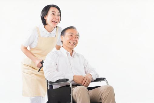 Men and nurses on a wheelchair 31