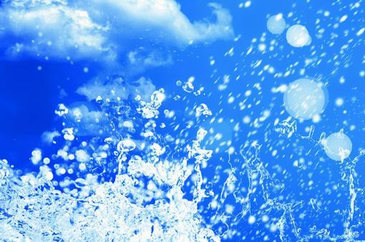 Splashing splashes and blue sky series 10_horizontal position | Free background image