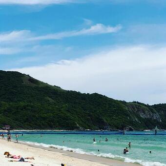 가마쿠라, 材木座 해안