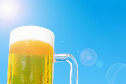 Midsummer blue sky beer