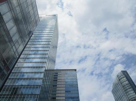 Office district skyscraper