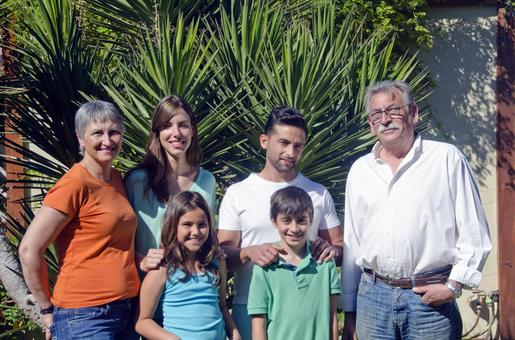 Foreigners Three generations of family 70