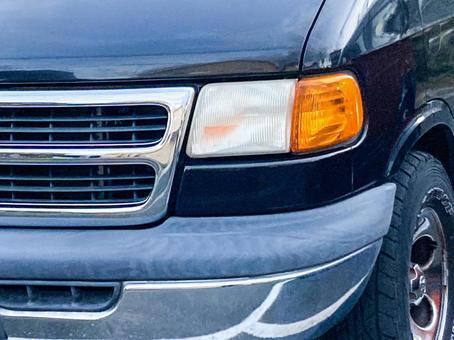 American minivan headlights