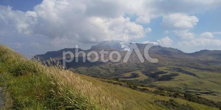 秋の阿蘇山の写真