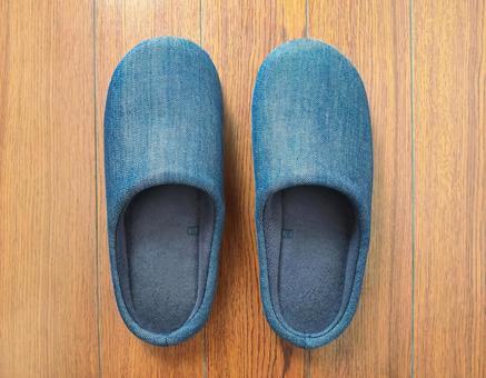 Denim room shoes
