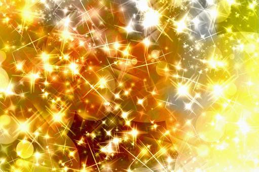 Glitter material of gold gradation