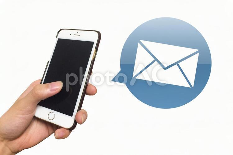 スマホとメールの写真