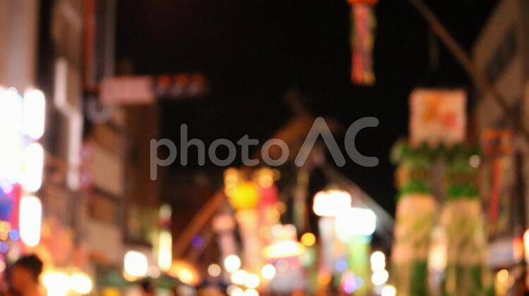 愛知 安城 七夕まつり ピンぼけ 祭り まつり 2018の写真