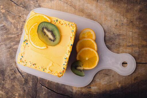 Squared Orange Cream Cake 1
