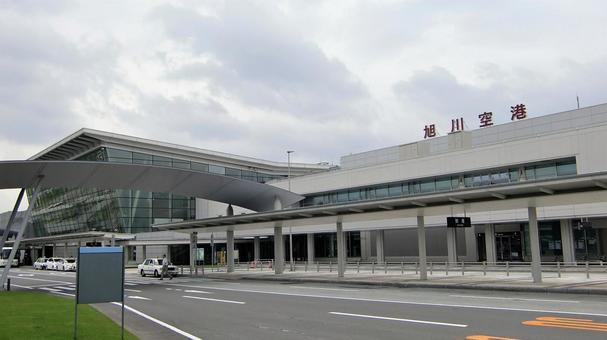 From the side of Asahikawa Airport Terminal