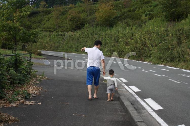 パパとお散歩の写真