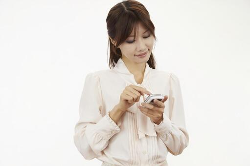 Female with mobile phone 12