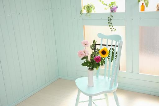 Flower and chair 3