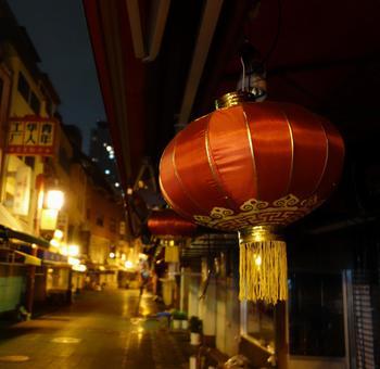 Night view of Kobe Chinatown