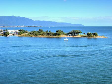View from Lake Biwa Bridge