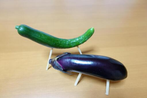 Obon's spirit horse Cucumber horse and eggplant cow